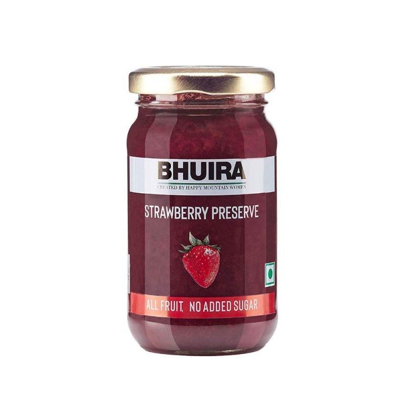 Bhuira Jams Strawberry Preserve No Added Sugar Jam