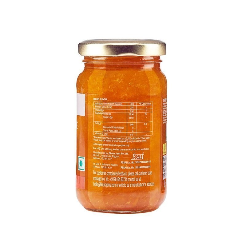 Bhuira Jams Three Fruit Marmalade No Added Sugar Jam